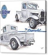 1931 Chevrolet Truck Hot Rod Canvas Print
