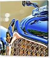 1931 Chrysler Cg Imperial Dual Cowl Phaeton Hood Ornament - Grille Canvas Print
