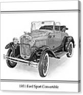 1931 Ford Convertible Canvas Print