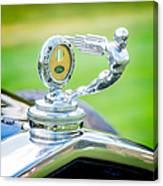 1931 Ford Model A Deluxe Fordor Hood Ornament Canvas Print