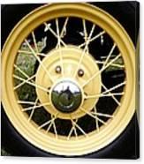 Antique Car Tire Rim Canvas Print