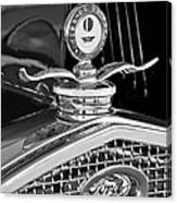 1931 Model A Ford Deluxe Roadster Hood Ornament 2 Canvas Print