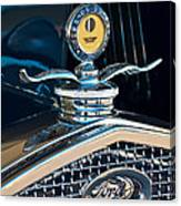 1931 Model A Ford Deluxe Roadster Hood Ornament Canvas Print