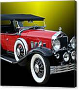 1931 Willys Knight Plaid Side Canvas Print