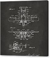 1932 Amphibian Aircraft Patent Gray Canvas Print