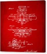 1932 Amphibian Aircraft Patent Red Canvas Print