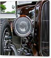 1932 Ford Roadster Head Lamp View Canvas Print