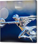 1932 Packard 12 Convertible Victoria Hood Ornament -0251c Canvas Print