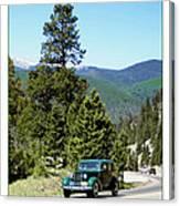 1932 Packard Eight Sedan Cresting Bob Cat Pass Canvas Print