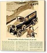 1933 - Chevrolet Commercial Automobile Advertisement - Old Gold Cigarettes - Color Canvas Print