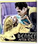 1933 - After Tonight Motion Picture Poster - Constance Bennet - Gilbert Roland - Color Canvas Print
