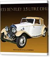 Bentley Derby D H C  Canvas Print