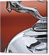 1933 Chrysler Cl Imperial Hood Ornament Canvas Print