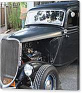 1933 Ford Two Door Sedan Front And Side View Canvas Print
