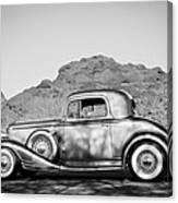 1933 Pontiac -0008bw Canvas Print