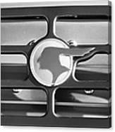 1933 Pontiac Emblem -0467bw Canvas Print