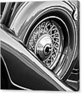 1933 Pontiac Spare Tire -0431bw Canvas Print