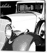 1933 Studebaker Digital Art Canvas Print