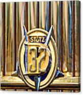 1933 Stutz Dv-32 Five Passenger Sedan Emblem Canvas Print