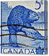 1954 Canada Beaver Stamp Canvas Print