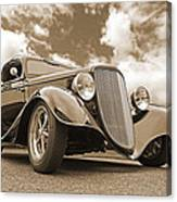 1934 Ford Coupe In Sepia Canvas Print