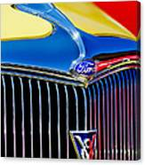 1934 Ford Deluxe Coupe Grille Emblems Canvas Print