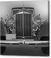 1934 Packard Black And White Canvas Print