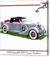 1934 Packard Twelve 1107 Coupe Canvas Print