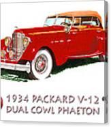 1934 Packard V-12 Dual Cowl Phaeton Canvas Print