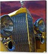 1934 Packard With Posterized Edge Texture Canvas Print