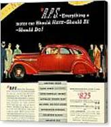 1935 - Nash Aeroform Automobile Advertisement - Color Canvas Print