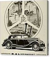 1935 - Panhard Panoramique French Automobile Advertisement Canvas Print
