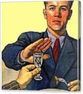 1935 - Soviet Union Anti Alcohol Propaganda Poster - Color Canvas Print
