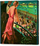 1935 Atlantic City Vintage Travel Art Canvas Print