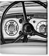 1935 Auburn 851 Supercharged Boattail Speedster Steering Wheel -0862bw Canvas Print