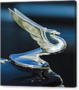 1935 Chevrolet Sedan Hood Ornament Canvas Print