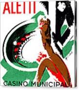 1935 Hotel Aletti Casino Algeria Canvas Print