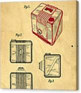 1935 Kodak Camera Casing Patent Canvas Print