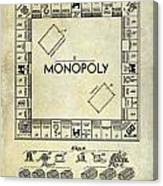 1935 Monopoly Patent Drawing Canvas Print