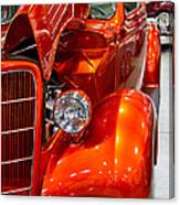 1935 Orange Ford-front View Canvas Print