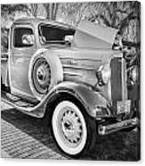 1936 Chevrolet Pick Up Truck Painted Bw   Canvas Print
