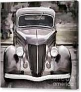 1936 Ford Roadster Classic Car Or Automobile Painting In Color  3120.02 Canvas Print