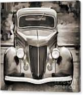 1936 Ford Roadster Classic Car Or Automobile Painting In Sepia  3120.01 Canvas Print