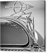 1936 Ford Deluxe Roadster Hood Ornament 2 Canvas Print
