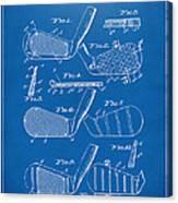 1936 Golf Club Patent Blueprint Canvas Print