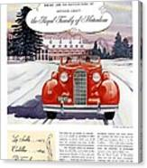 1936 - Lasalle Convertible Automobile Advertisement - Color Canvas Print