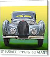 1937 Bugatti 57 S C Atalante Canvas Print