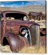 1937 Chevrolet Coupe At Bodie Canvas Print