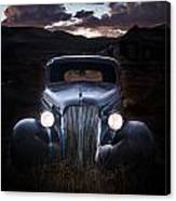 1937 Chevy At Dusk Canvas Print