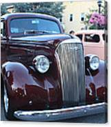 1937 Chevy Two Door Sedan Front And Side View Canvas Print
